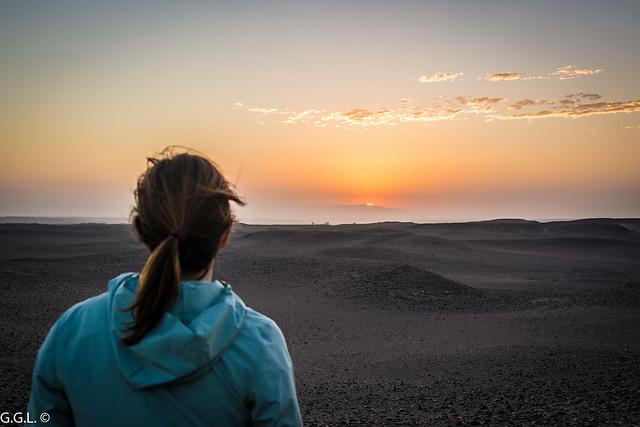Desierto de Nasca. Perú. Horizonte.