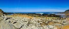 Panorama de la Playa de Tagle, Cantabria.