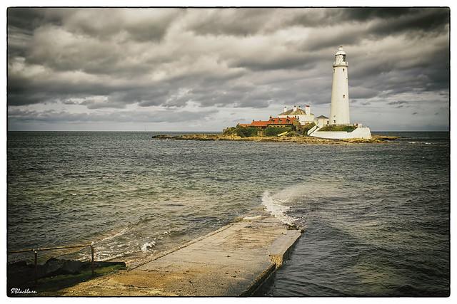 Gloomy weather at St Marys Lighthouse