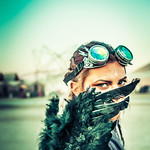 Linnea at Burning Man