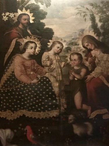 Belmond Hotel Monasterio PaintingTitled The Sacred Family Mesitzo Synthesis Diego Quisepe Tito School late 17th century