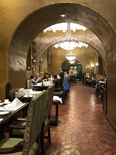 Belmond Hotel Monasterio Archways in Breakfast Dining Room. From History Comes Alive at the Belmond Hotel Monasterio in Cusco