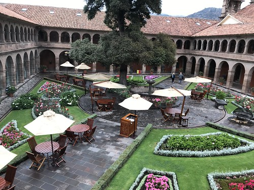 Belmond Hotel Monasterio Main Courtyard. From History Comes Alive at the Belmond Hotel Monasterio in Cusco