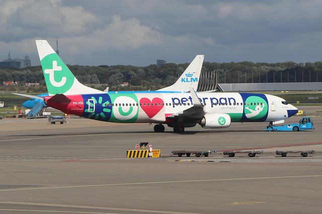 PH-HSI  -  Boeing 737-8K2 (WL)  -  Transavia (Peter Pan Vakantieclub Livery) -  AMS/EHAM 18/8/19