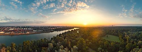 sunrise dji mavic pro mavicpro2 panorama ludwigshafen parkinsel