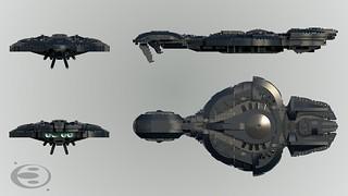 CCS-class Battlecruiser Orthographic