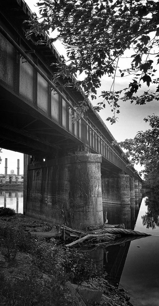 RR Bridge over the Great Miami River near Miamisburg, OH