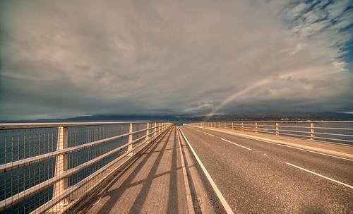 Rainbow at Skye Bridge.