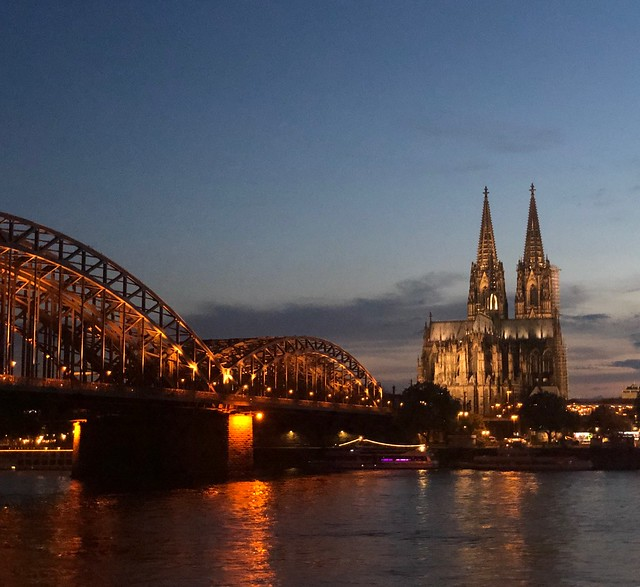 Hohenzollern Bridge, with Cologne Cathedral in the background