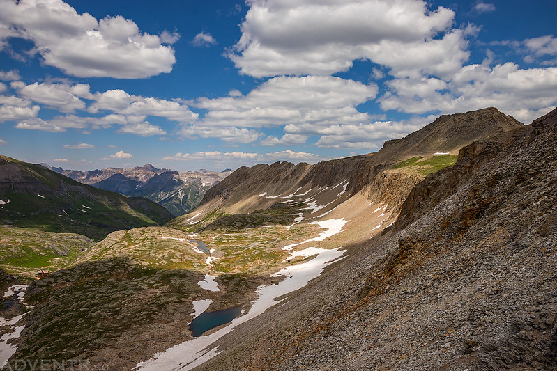 Bridal Veil Basin from Columbine Pass