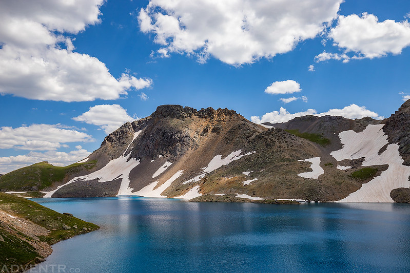 Blue Lake & Clouds