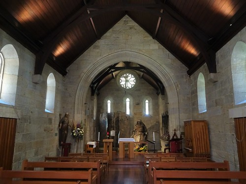 Brisbane. The interior of the oldest still standing church in Queensland and the first Catholic Church built in 1850.