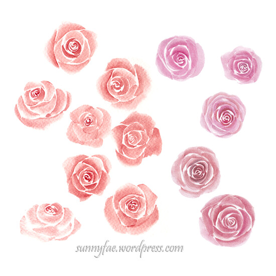 stylised roses