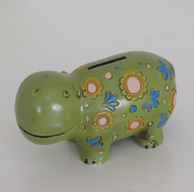 Vintage Takahashi Hippo Bank - Made in Japan