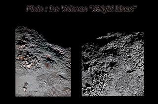 "New Horizons : Pluto's ice volcano ""Wright Mons"""
