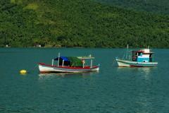 Bâteaux de pêche au mouillage - Saco do Mamanguà