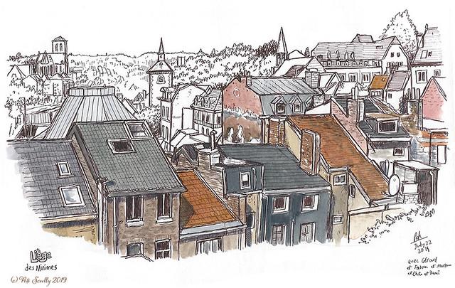 Liege rooftops des Minimes