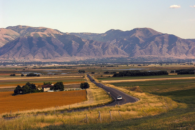 September. Late afternoon. Cache Valley, Utah