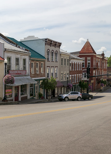 buildings structures historic building structure commercial hillside street twostory brick flemingsburg kentucky flemingcounty storefronts downtown village
