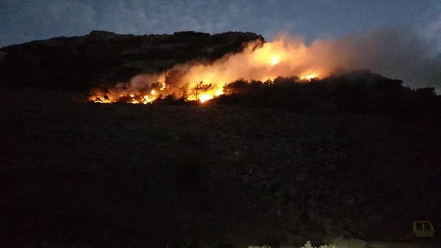 Incendio junto al Bosquecillo