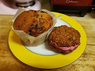 Chocolate Raspberry Muffin and ANZAC Sandwich Cookie at Ginger & Rose