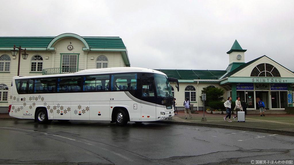 富良野~新得間は代行バス2時間弱、途中の狩勝峠は濃霧