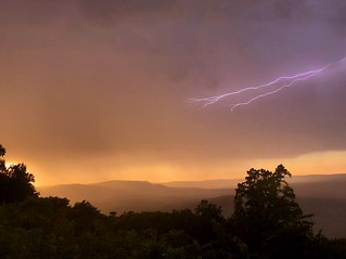 Amazing storm at sunset from Skyline Drive