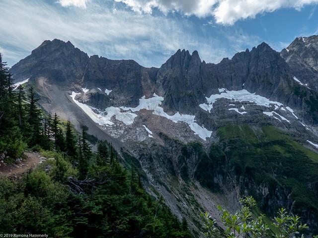 Leaving Cascade Pass