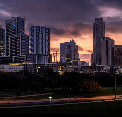 austin austintexas downtown downtownaustin texas city cityscape panoramic skyline skyscraper dawn morning sunrise highres