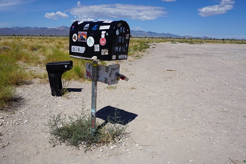 The Black Mailbox - Nevada State Route 375, aka the Extraterrestrial Highway, July 2019