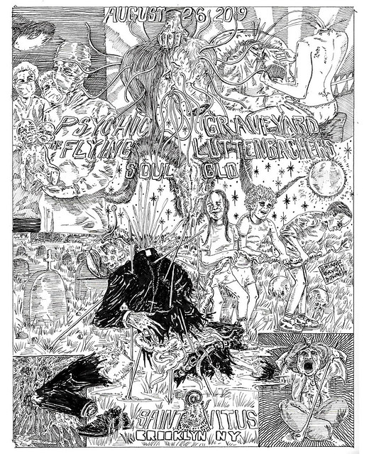Psychic Graveyard, the Flying Luttenbachers, Soul Glo @Saint Vitus, Brooklyn, NY