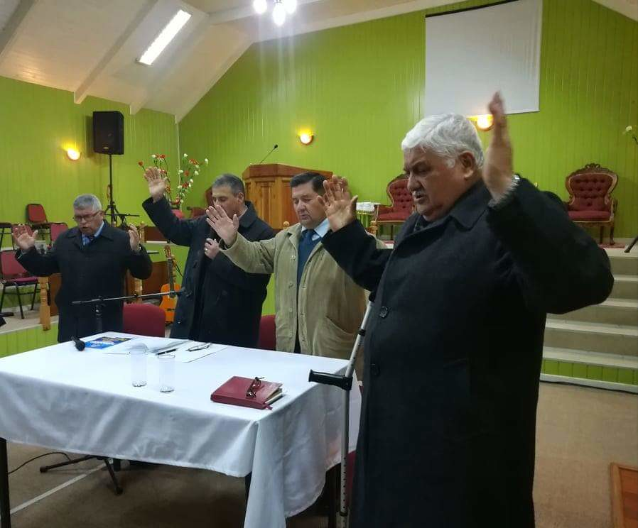 Reunión de organización de los 110 años en localidad de Cerro Alto