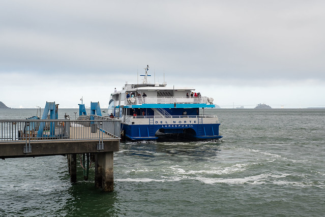 Ferry and Alcatraz, Sausalito, California