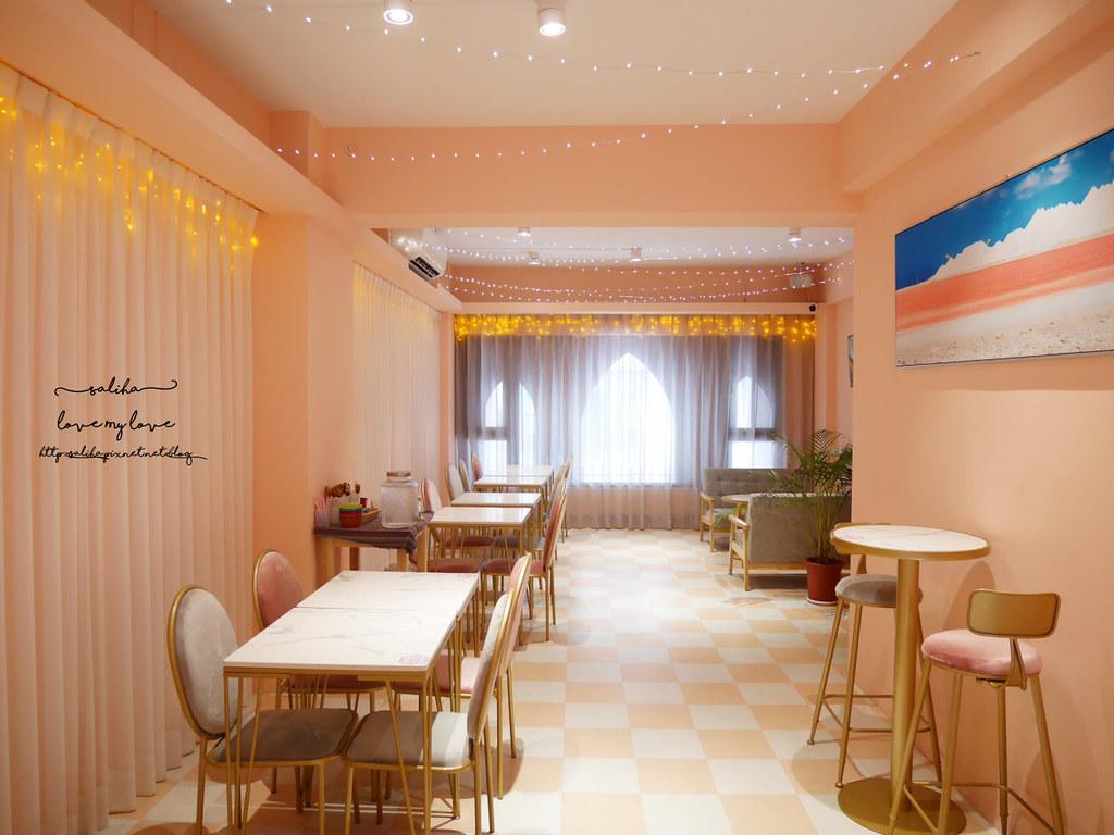 台中夢幻ig餐廳藍箱處好拍網美風打卡拍照推薦咖啡下午茶 (1)