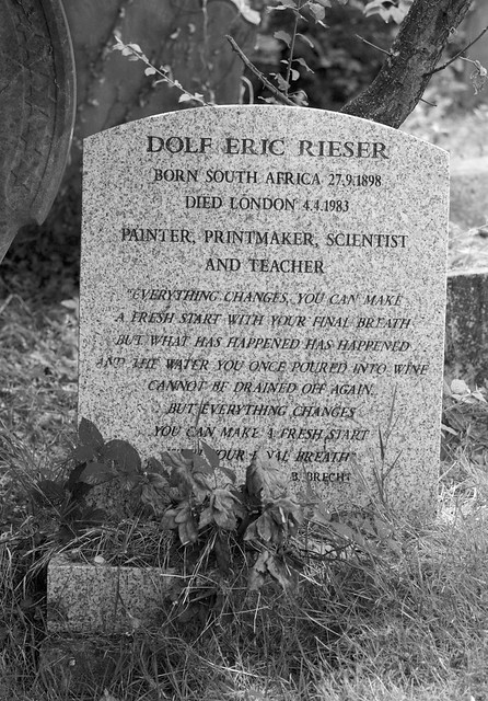 The grave of Dolf Rieser