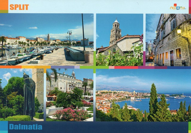 Croatia - Split (Town on Croatia's Dalmatian Coast, is known for its beaches and the fortresslike complex at its center).