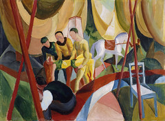 August Macke, Der Zirkus  - The Circus