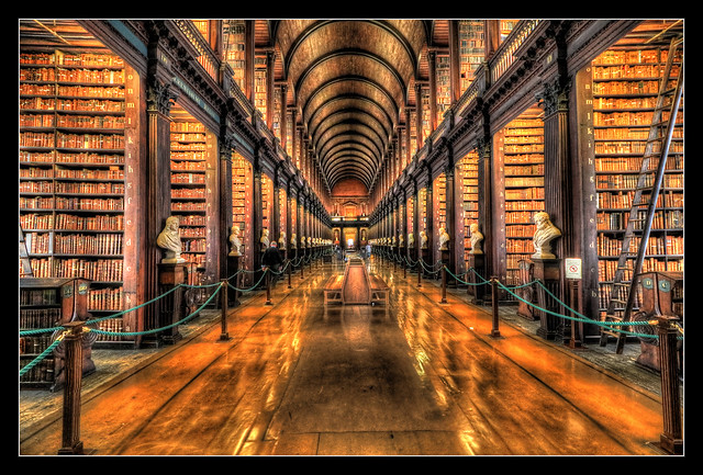 Dublin IR - The Long Room Of The Old Library At Trinity College 05