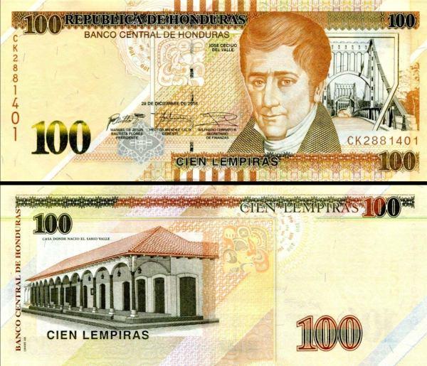 100 Lempiras Honduras 2018, P102