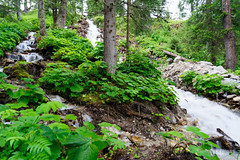 20190727-35-Haute Route day 02 - Artificial waterfall leading into lake