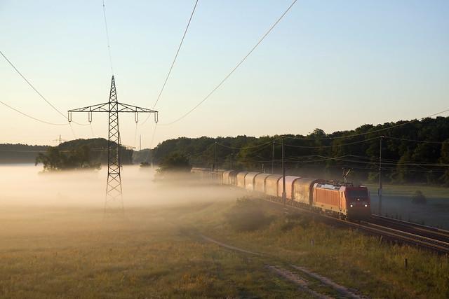 DB 187 156 + Güterzug/goederentrein/freight train   - Nudow