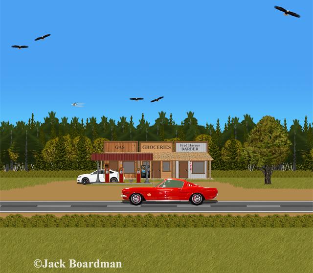 Boomer & Mac were on MN Highway 23 ©JBoardman