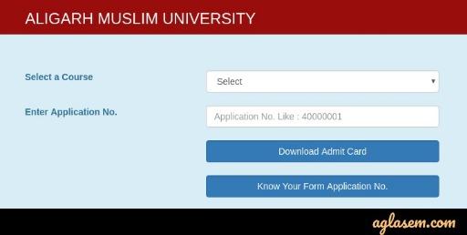 AMU Admit Card 2020