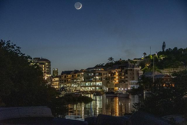 New moon over Hamilton