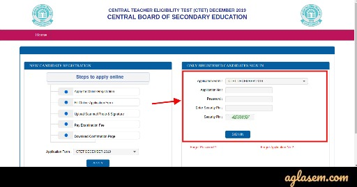 How to edit ctet application form 2019
