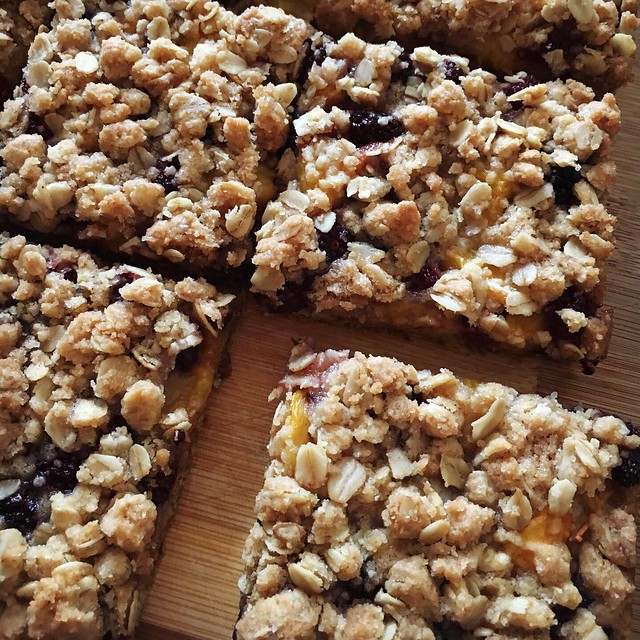 Blackberry and Peach bars