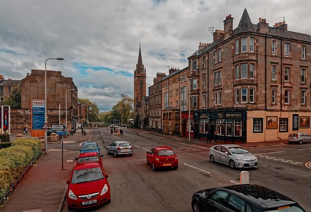 Edinburgh / Ester Rd  - Academy Park / The Persevere Bar restaurant / Leith St Andrew's Church