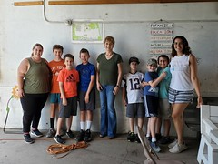 Rep. Zawistowski with students from Hilltop Adventure Camp and their teacher, Allison Zaczynski
