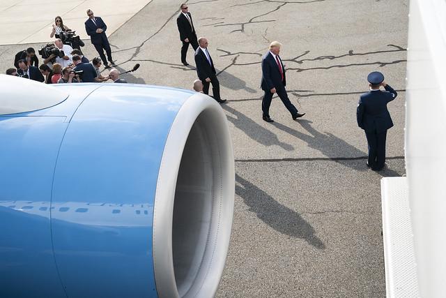 President Trump Returns to D.C.