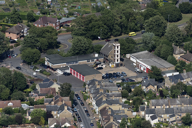 Huntingdon Community Fire & Rescue Station aerial image